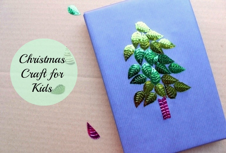Christmas craft ideas for kids: easy gift wrap